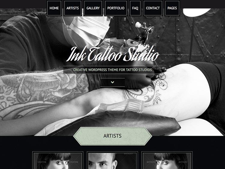 Ink Tattoo Studio WordPress Theme Free Download