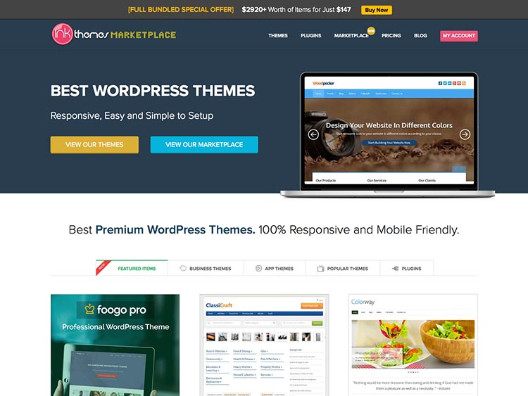 InkThemes Alternatives for Selling WordPress Themes and Templates