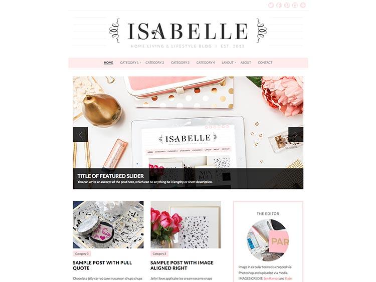 Isabelle WordPress Theme Free Download
