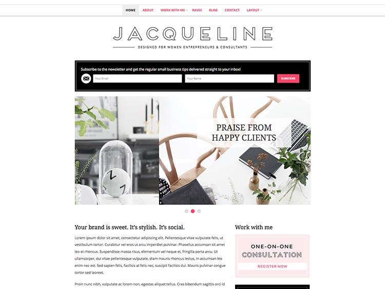 Jacqueline WordPress Theme Free Download