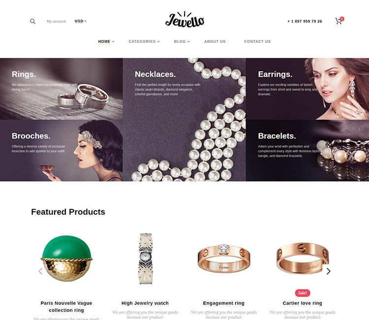 Jewello Jewellery Shop WooCommerce Theme