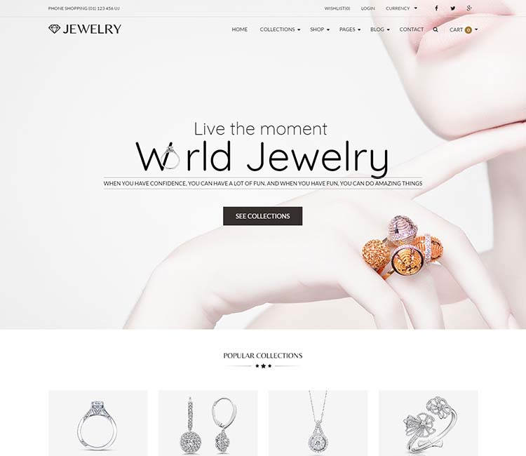 Jewelry WordPress Theme Free Download