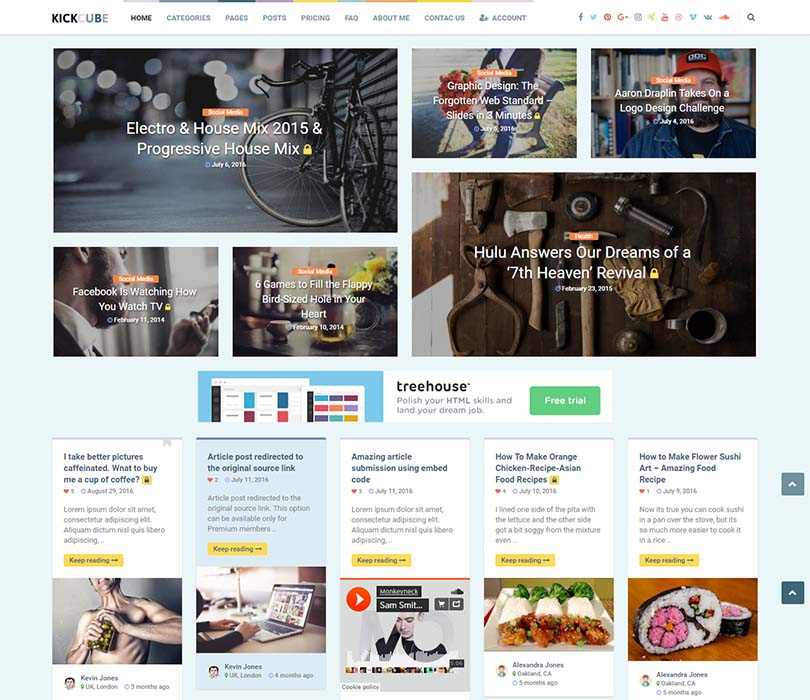 Kickcube WordPress Free Download