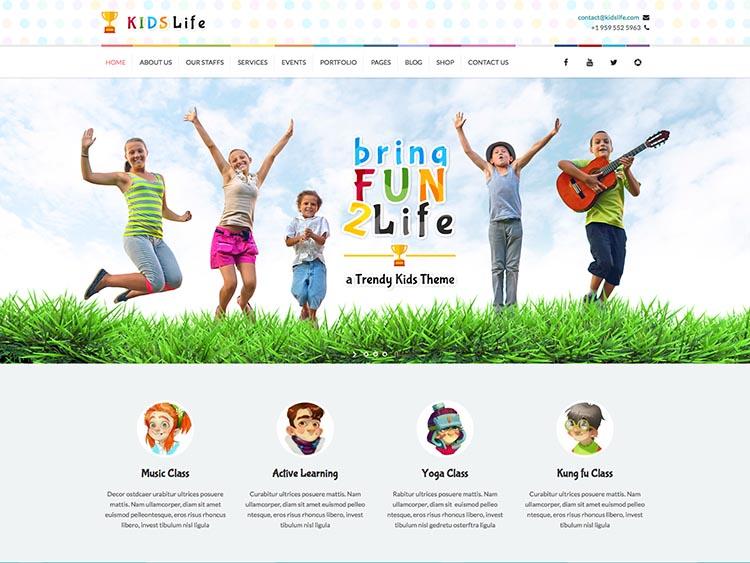 KidsLife WordPress Free Download