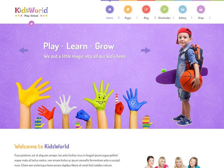KidsWorld WordPress Free Download