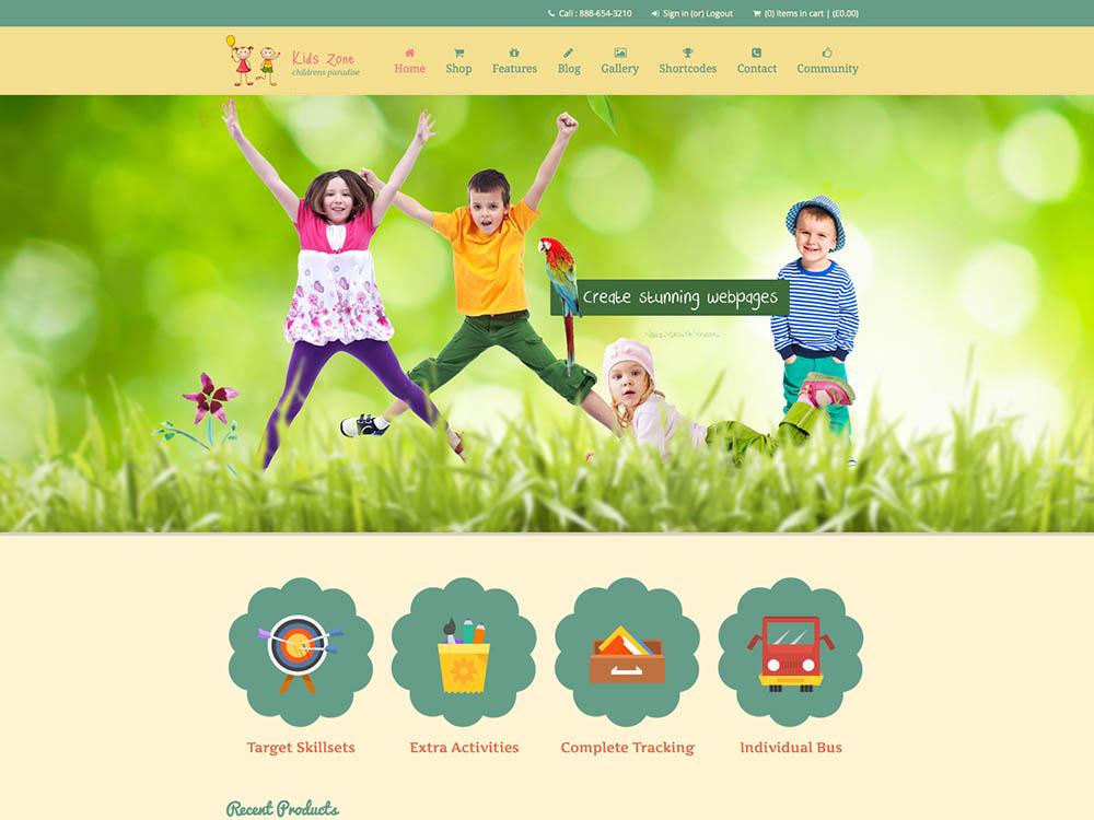 Kidszone WordPress Free Download