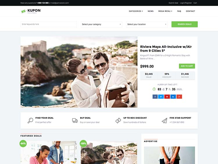 Kupon WordPress Theme Free Download
