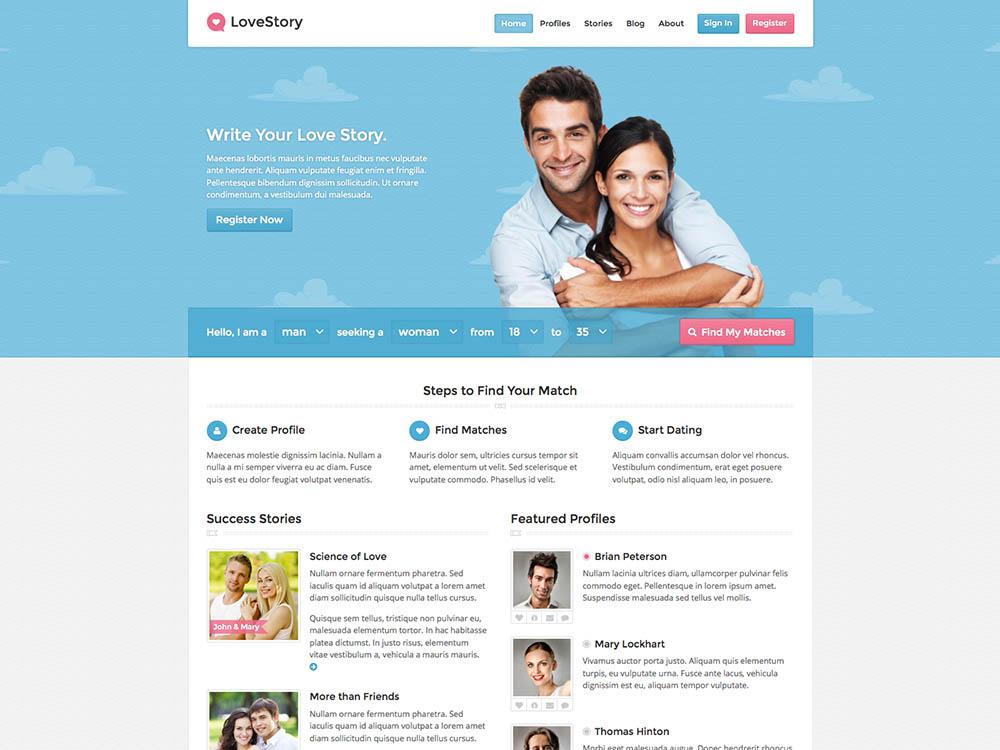 Love Story WordPress Free Download