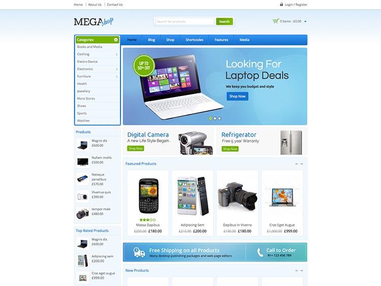 MegaShop WordPress Theme Free Download