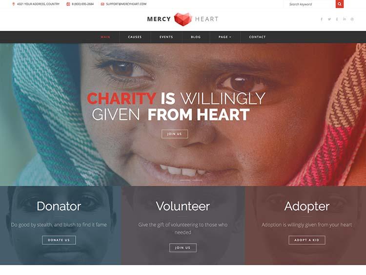 Mercy Heart WordPress Theme Free Download