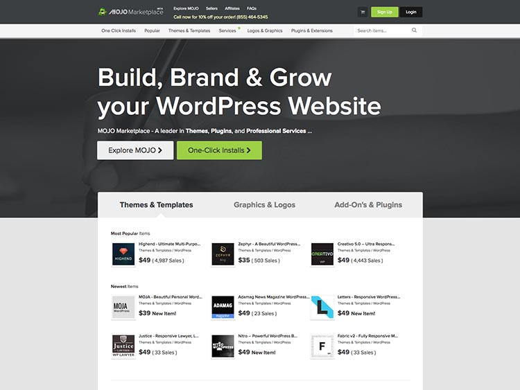 Mojo Marketplace Alternatives for Selling WordPress Themes and Templates