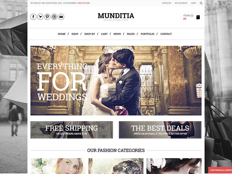 Munditia WooCommerce WordPress Theme Free Download