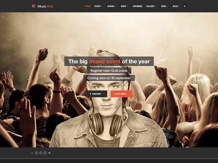MusicHub WordPress Free Download