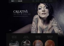 NeoTattoo Salon Wordpress Theme Free Download