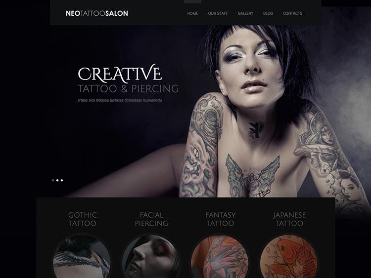 NeoTattoo Salon WordPress Theme Free Download