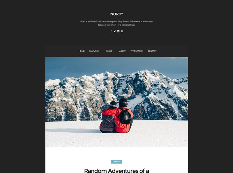 Nord WordPress Theme Free Download