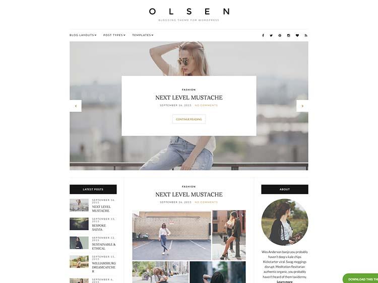 Olsen WordPress Theme Free Download