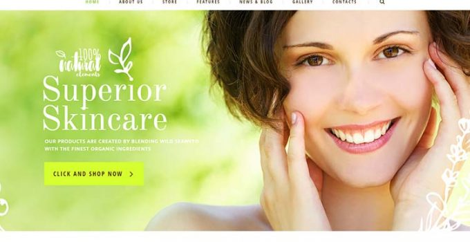 Organic Beauty Wordpress Theme Free Download