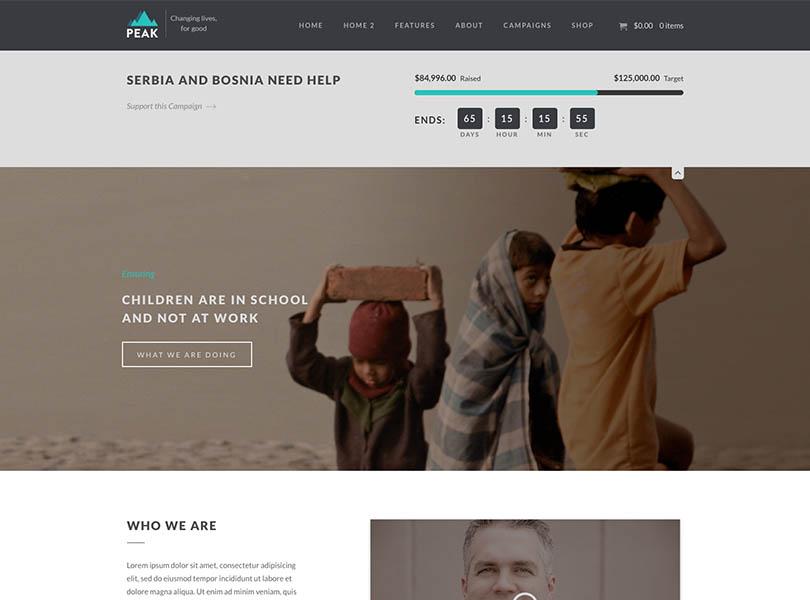Peak WordPress Theme Free Download