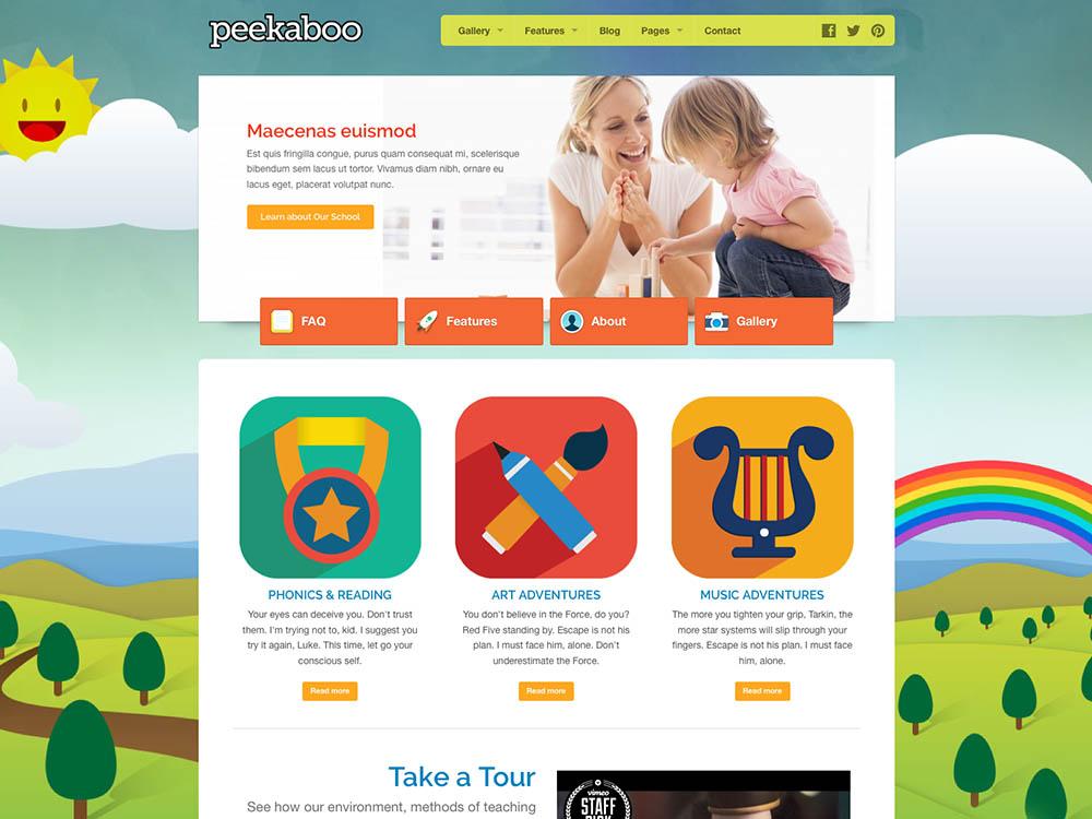 Peekaboo WordPress Free Download