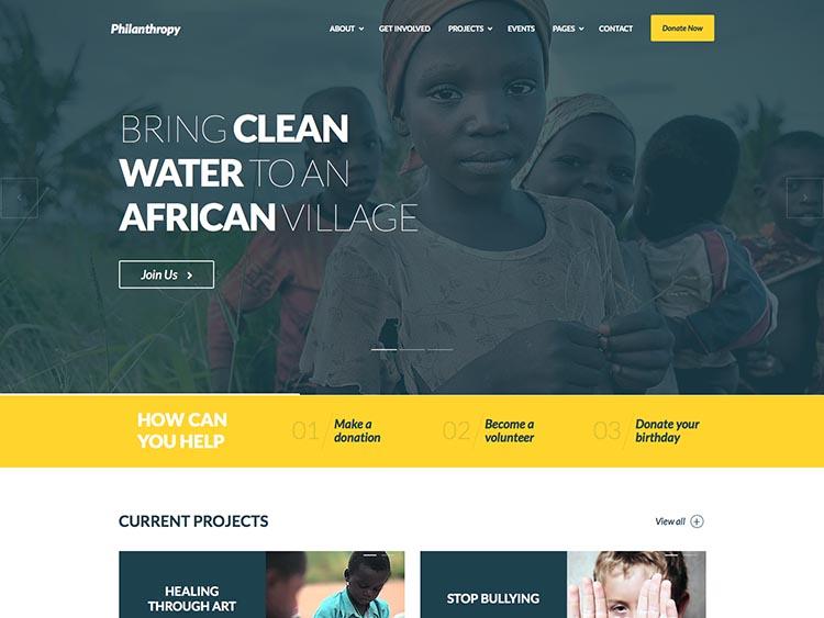 Philantropy WordPress Theme Free Download