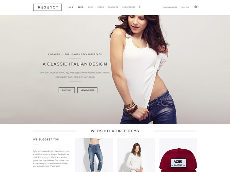 Regency WooCommerce WordPress Theme Free Download