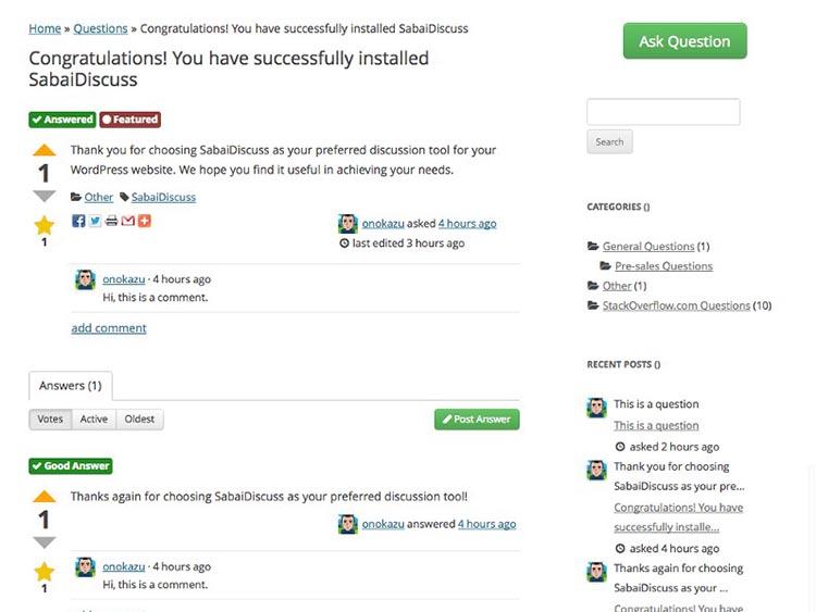 SabaiDiscuss WordPress Plugins Free Download