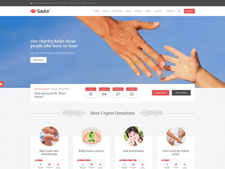 Savior WordPress Theme Free Download