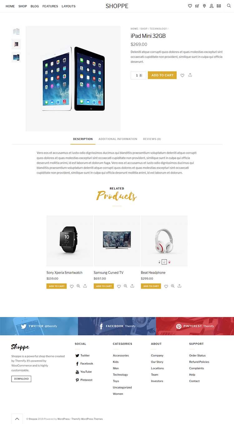 Shoppe WordPress Theme Free Download