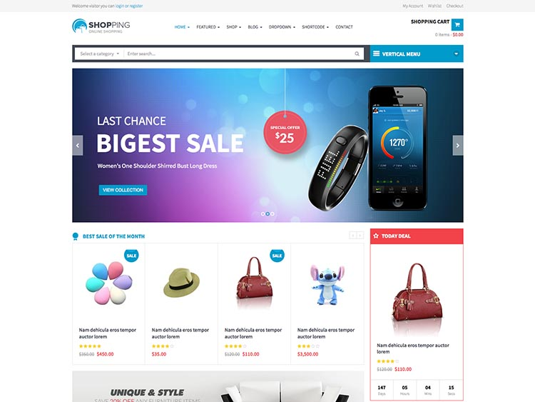 Shopping WordPress Theme Free Download