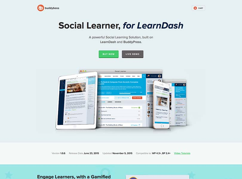 Social Learner (LearnDash or Sensei sold separately)