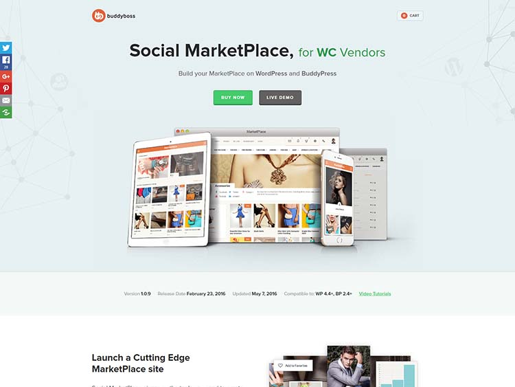 Social Marketplace WordPress Free Download