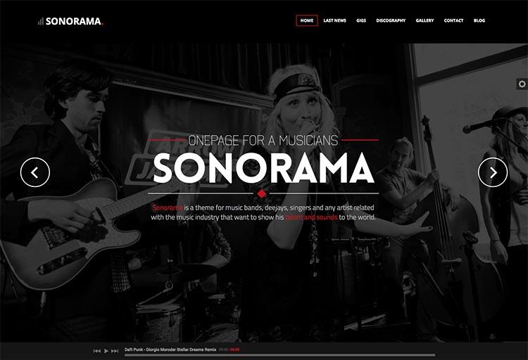 Sonorama WordPress Theme Free Download