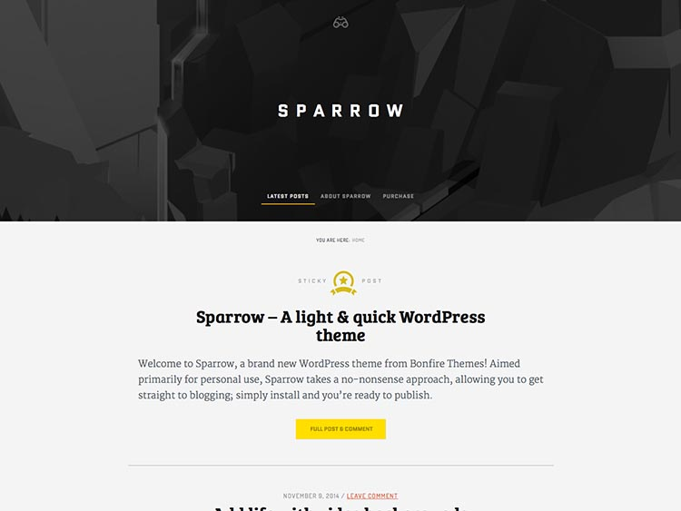 Sparrow Wordpress Theme Free Download