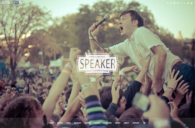 Speaker WordPress Theme Free Download