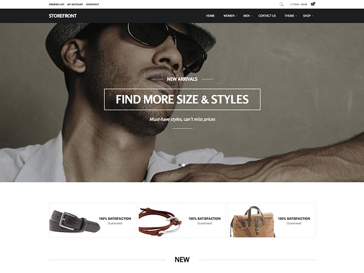 Storefront WooCommerce WordPress Theme Free Download