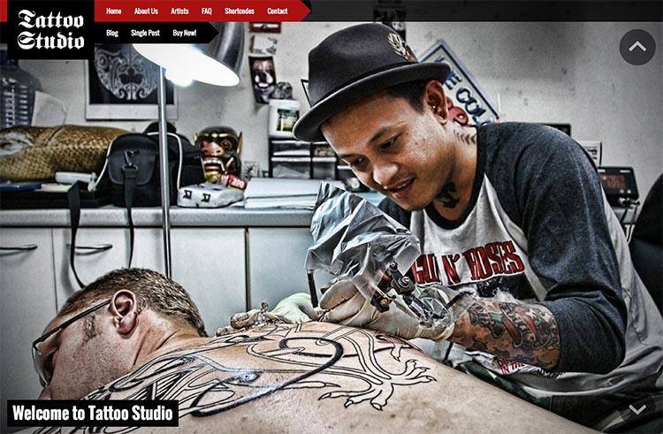 Tattoo Studio WordPress Theme Free Download
