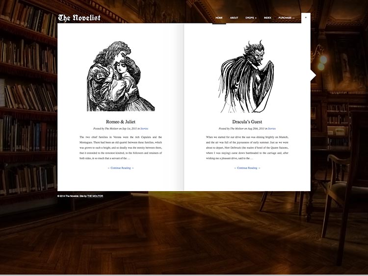 The Novelist WordPress Theme Free Download
