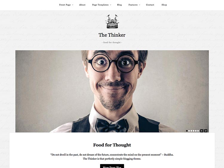 The Thinker WordPress Theme Free Download