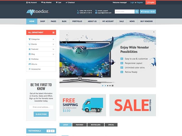 Venedor WordPress Theme Free Download