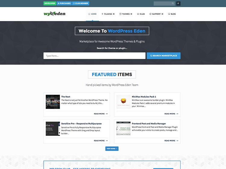 WP Eden Alternatives for Selling WordPress Themes and Templates