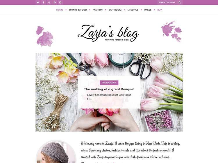 Zarja WordPress Theme Free Download