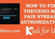 FIX Thevideo.me pair and Vidup.me pair Stream Authorization