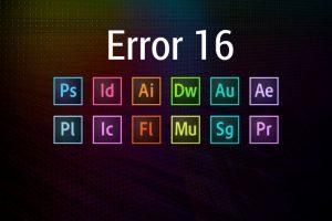 Adobe Error Code 16